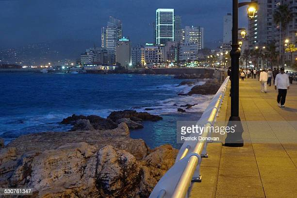 Downtown Beirut, Lebanon, seen from the Corniche