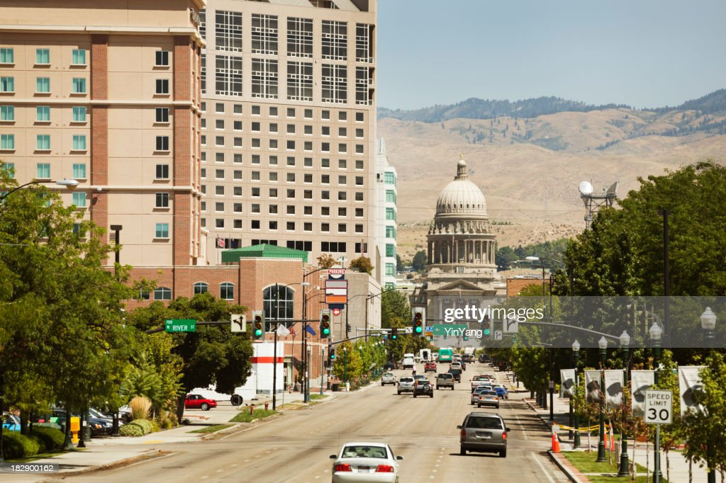 Downtown Boise with State Capitol Hz