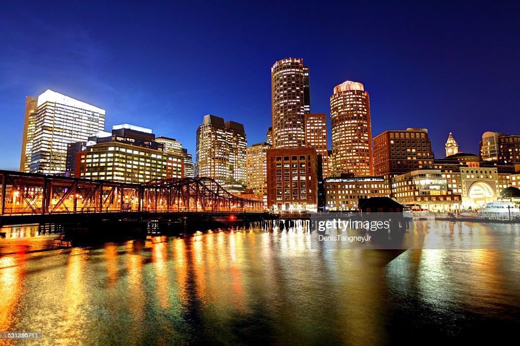 Downtown Boston Skyline along the Harborwalk