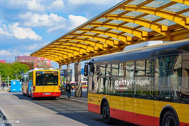 Downtown Bus Station in Warsaw Poland