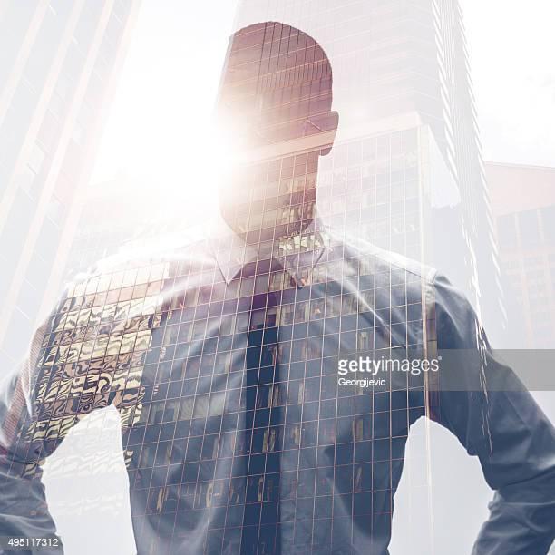 Downtown businessman