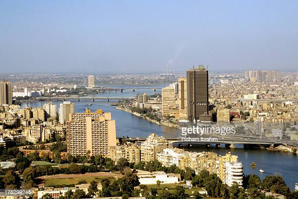 Downtown Cairo and the Nile River