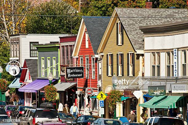 Downtown Camden Maine ME USA