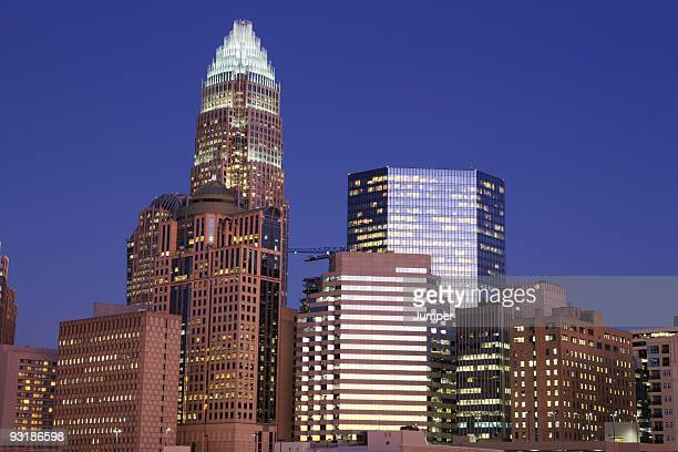 Downtown Charlotte, NC at night