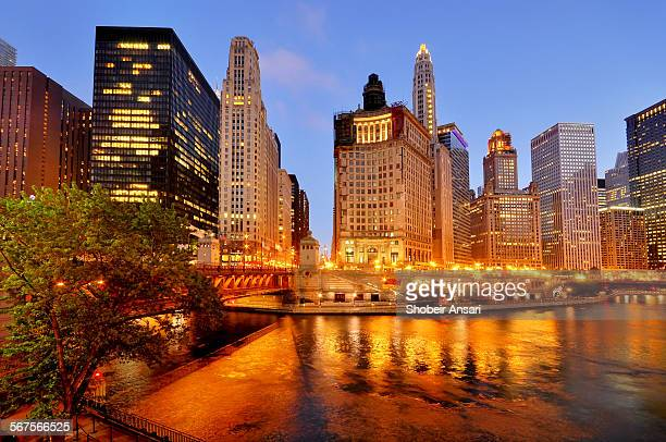Downtown Chicago at down, Illinois