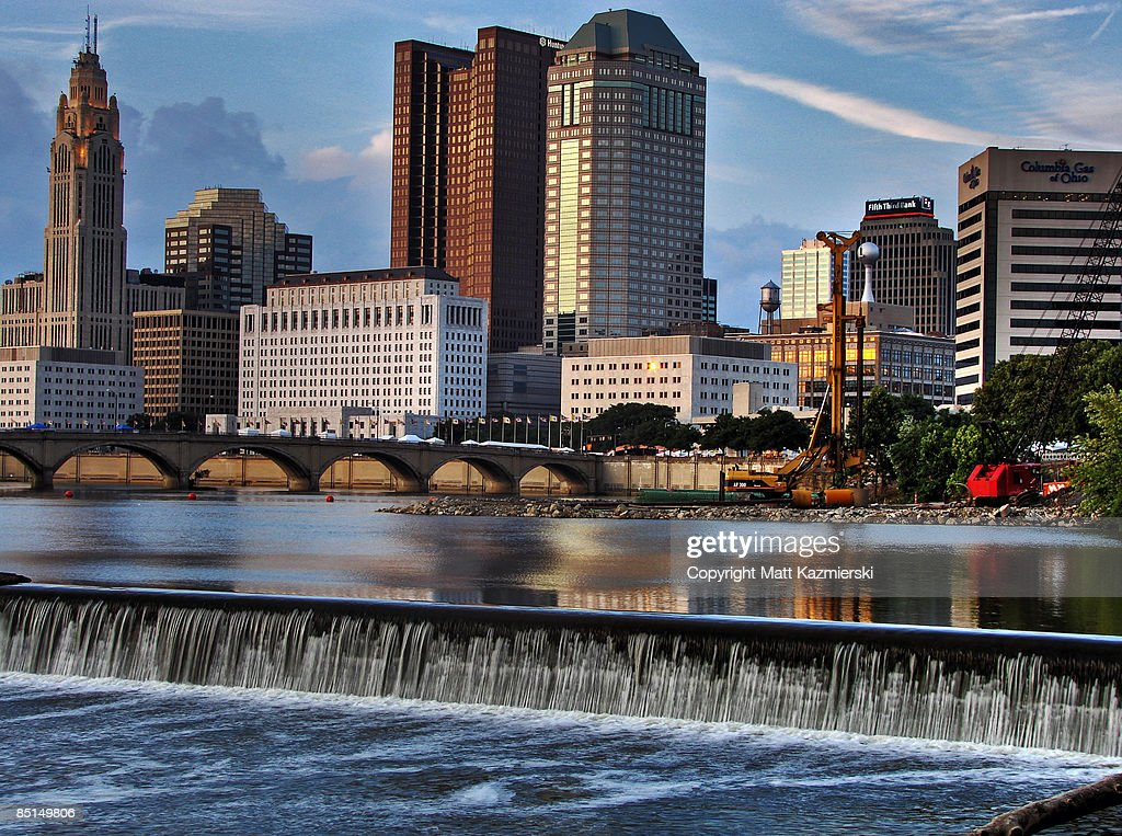 Downtown Columbus Ohio and Scioto River