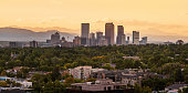 View of Downtown Denver with The Rocky Mountains in the background