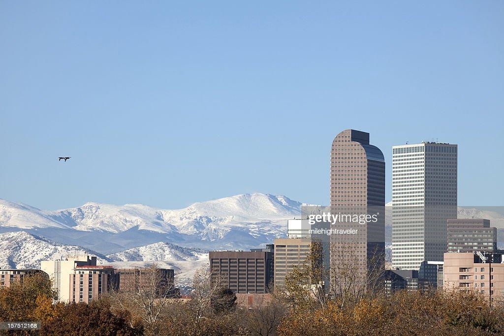 Downtown Denver Skyline and Mount Evans, Colorado