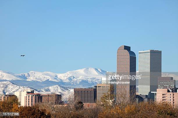 Downtown Denver Skyline and Mount Evans, Colorado