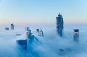 Downtown Dubai at dawn, United Arab Emirates