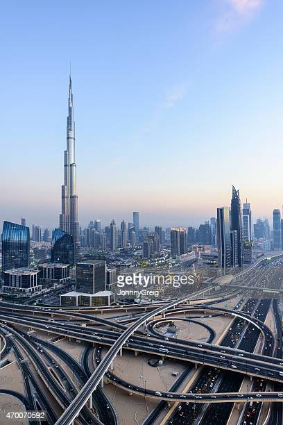 Downtown Dubai with Burj Khalifa and Sheikh Zayed Road