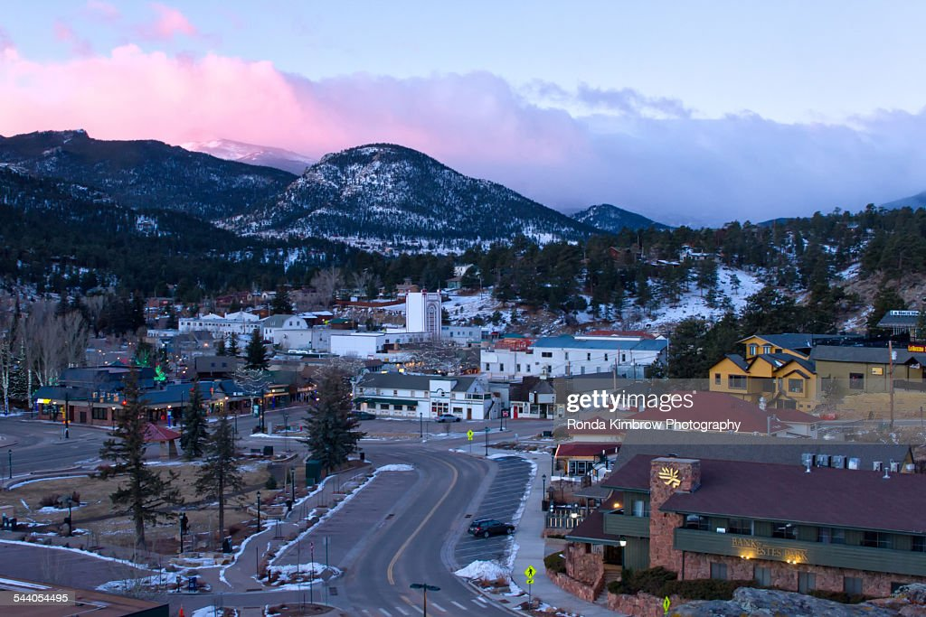 Downtown Estes park Colorado
