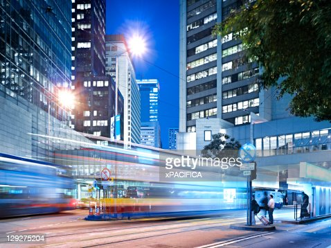 Downtown financial district of Hong Kong : Bildbanksbilder