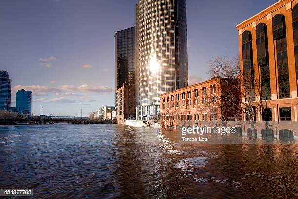 Downtown flooding