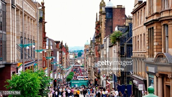 Downtown Glasgow, Scotland, UK. : Stock Photo
