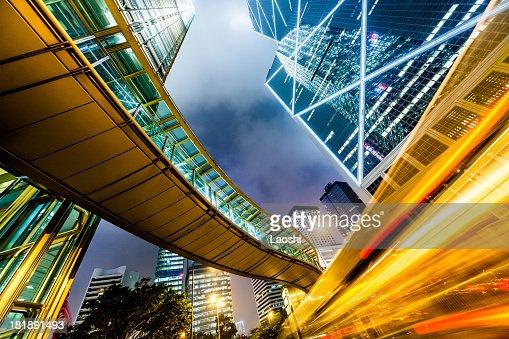 El centro de la ciudad de Hong Kong