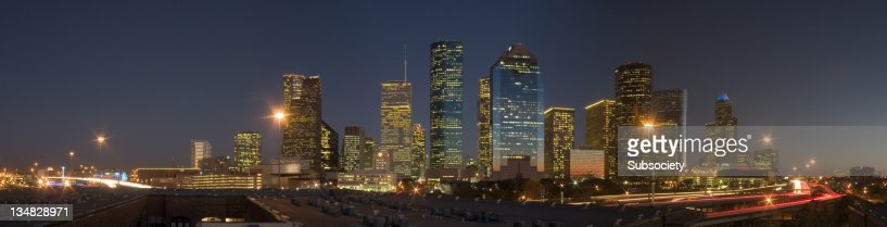 Centro di Houston a notte