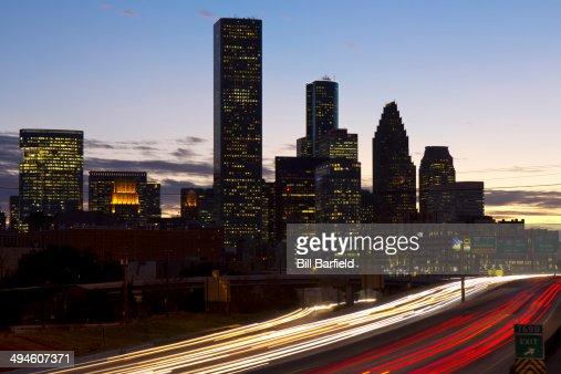 Downtown Houston at Sunset : Stock Photo