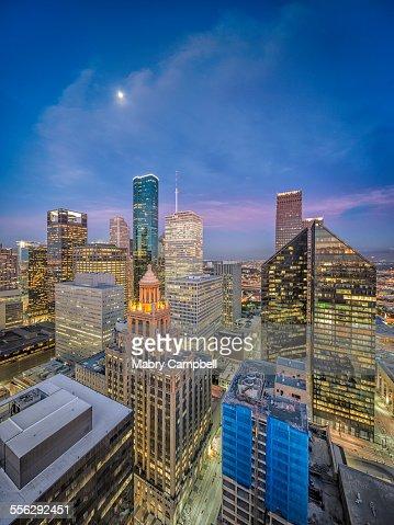 Downtown Houston Texas Sunrise Skyline