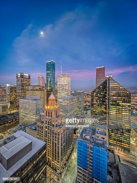Downtown Houston Texas Sunrise Skyline
