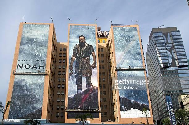 Downtown huge movie painting mural