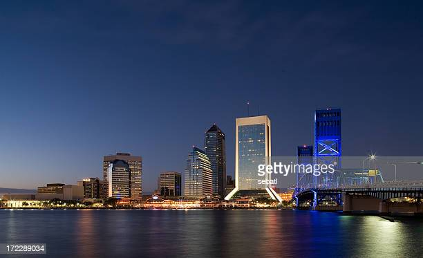 Downtown Jacksonville skyline at night