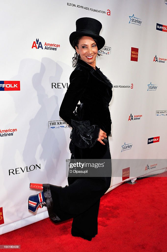 'Downtown' Julie Brown attends the Elton John AIDS Foundation's 11th Annual 'An Enduring Vision' Benefit at Cipriani Wall Street on October 15, 2012 in New York City.