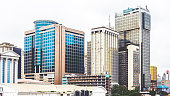 Office buildings in Lagos Island's commercial district.