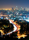 Downtown Los Angeles Night view