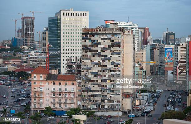 Downtown Luanda on March 26 2014 in Luanda Angola