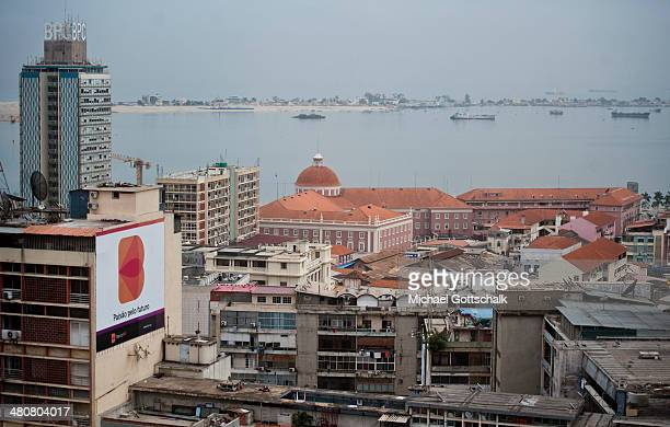 Downtown Luanda with coast on March 26 2014 in Luanda Angola