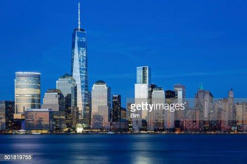 Downtown Manhattan at Twilight, New York