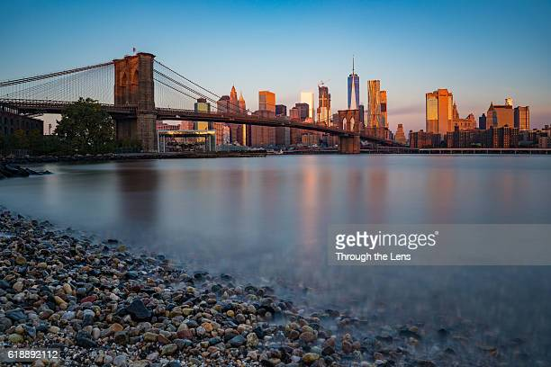 Downtown Manhattan during Sunrise