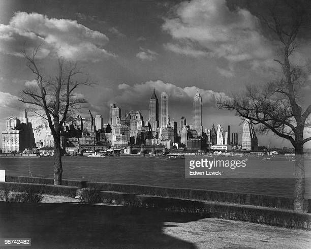 Downtown Manhattan seen from Governor's Island circa 1955