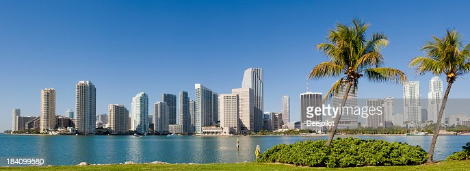 Downtown Miami City Skyline USA