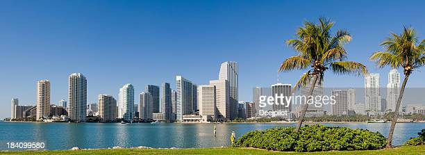 Baixa de Miami City Skyline EUA