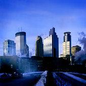 Downtown Minneapolis on Winter Morning