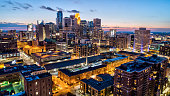 Downtown Minneapolis Skyline - Sunset