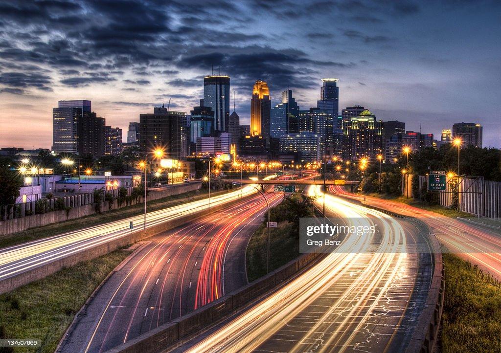Downtown Minneapolis skyscrapers