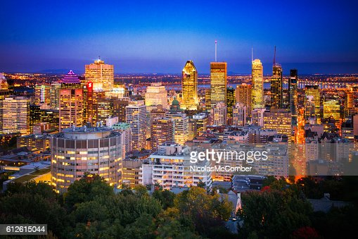 Downtown Montreal Skyline at night