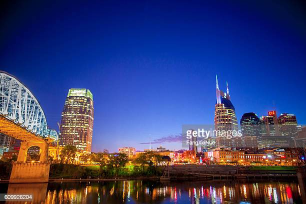 Downtown Nashville skyline cityscape