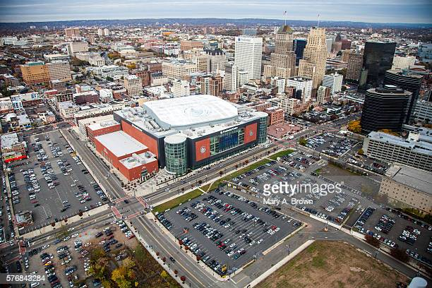 Downtown Newark Prudential Center Aerial View