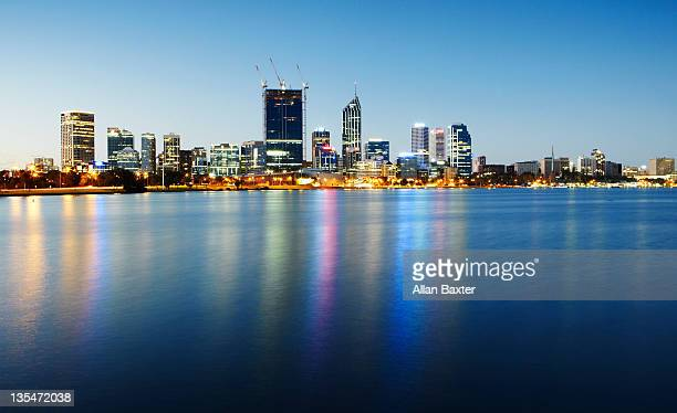 Downtown Perth at sunset