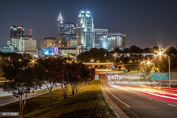 Downtown Raleigh Skyline at Night
