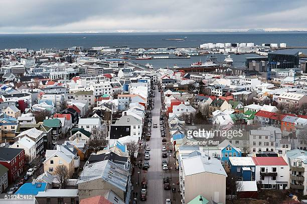 REYKJAVIK ICELAND Downtown Reykjavik sits in the afternoon light following the government shakeup in the wake of the Panama Papers crisis on April 5...