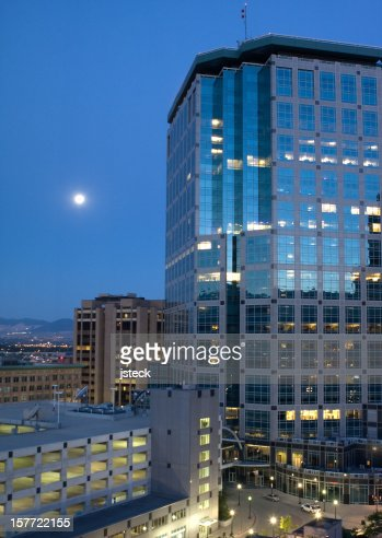 Downtown Salt Lake City by Moonlight