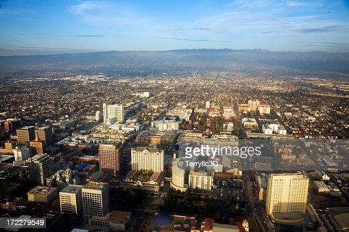 Downtown San Jose, California in Silicon Valley