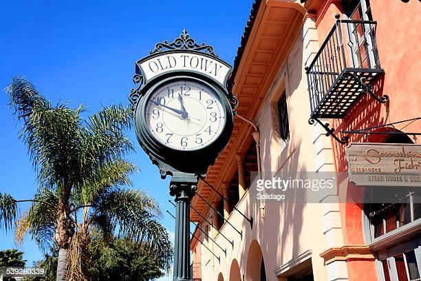 Downtown Santa Barbara With Old Town Clock Close Up