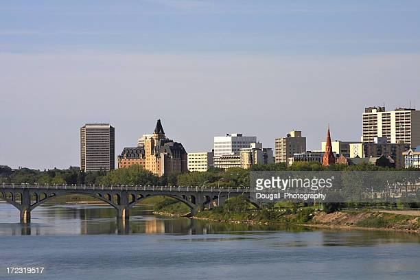 Downtown Saskatoon and South Saskatchewan River