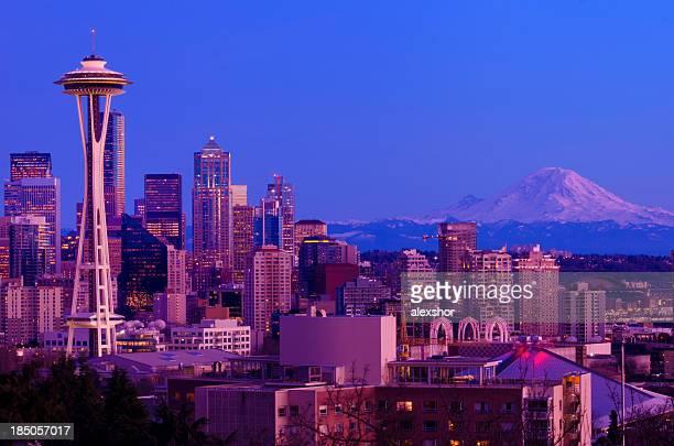El centro de la ciudad de Seattle